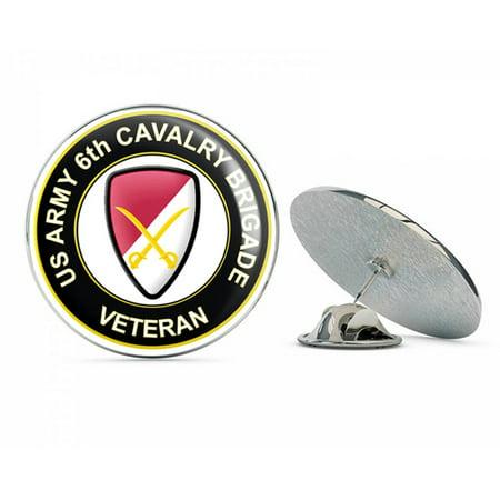 U.S. Army 6th Cavalry Brigade Veteran Metal 0.75