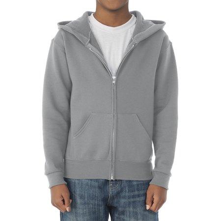 - Boys' Mid-Weight Fleece Full-Zip Hooded Sweatshirt