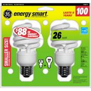 GE Energy Smart CFL Bulb, 26W, Soft White Spiral, 6 Bulbs