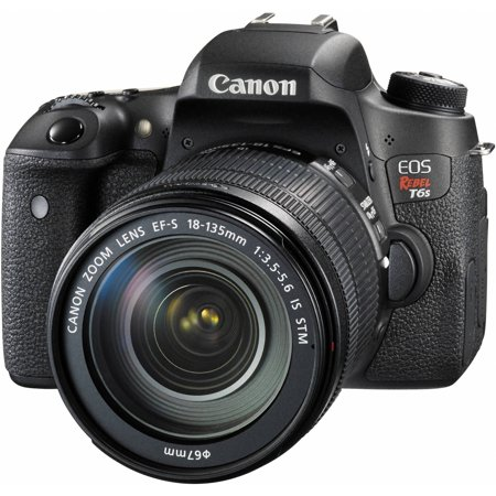 Canon Black Eos Rebel T6s Digital Slr Camera With 24 2 Megapixels And 18 135Mm Lens Included