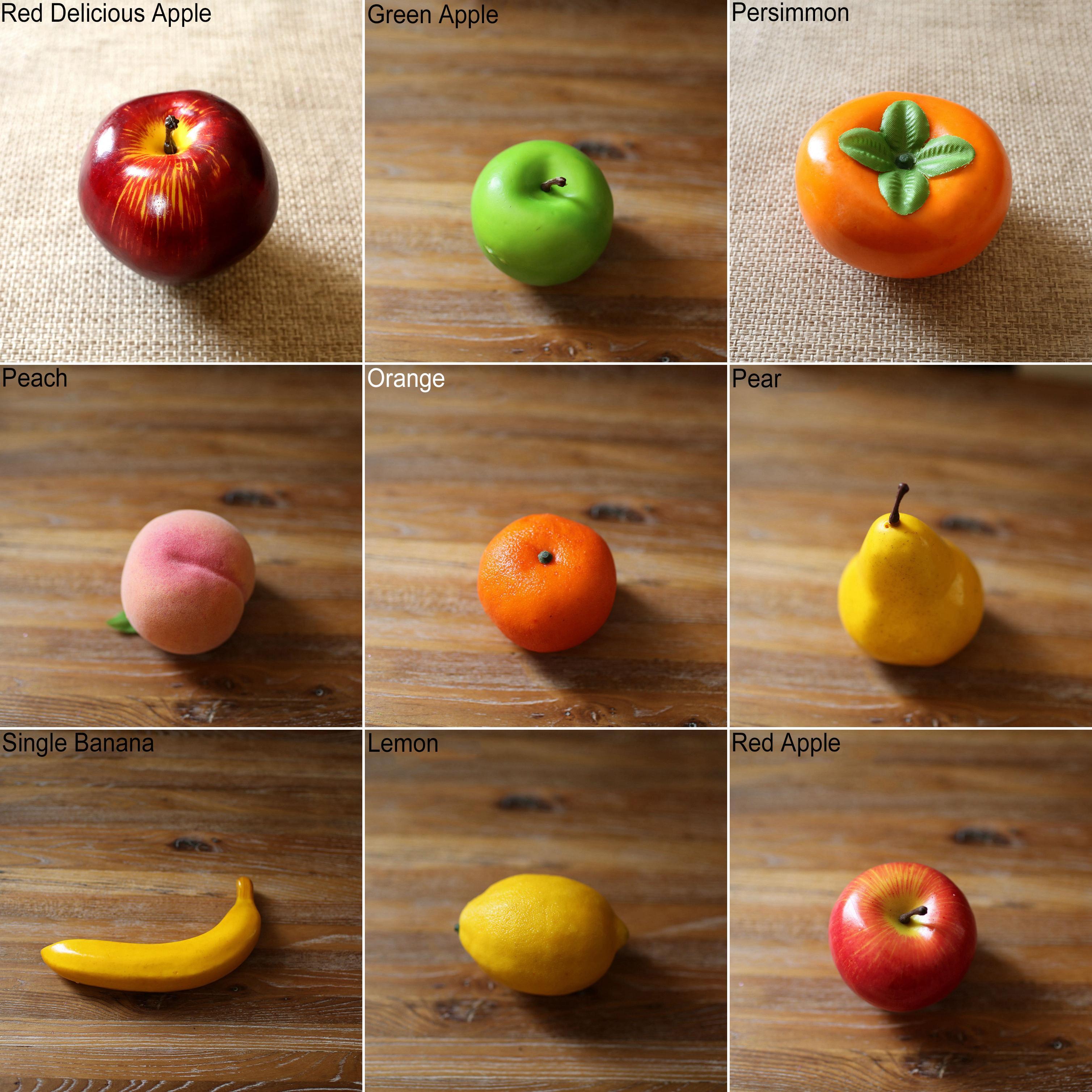Girl12queen Lifelike Decorative Artificial Fruits Fake Apple Banana