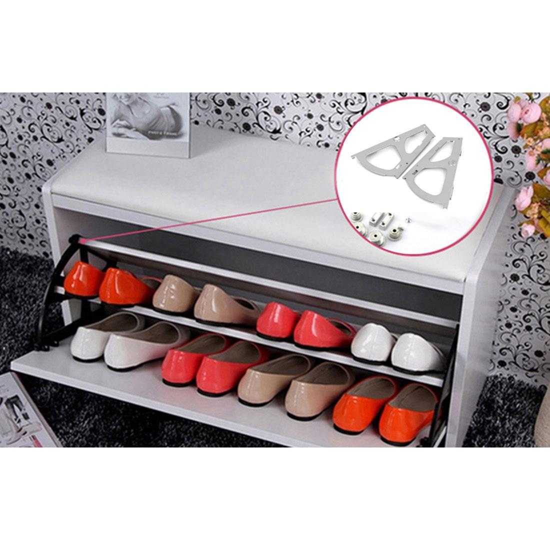 Armoire penderie étagère Métal chaussure Support connecteur paire gris - image 1 de 5