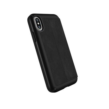 Speck Presidio Folio iPhone X Leather Black Black 110972-1050 Speck Black Leather