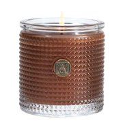 CINNAMON CIDER Aromatique Textured Glass Scented Jar Candle