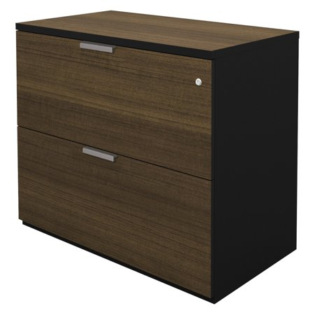 Bestar pro concept assembled lateral file milk chocolate for Bamboo kitchen cabinets reviews
