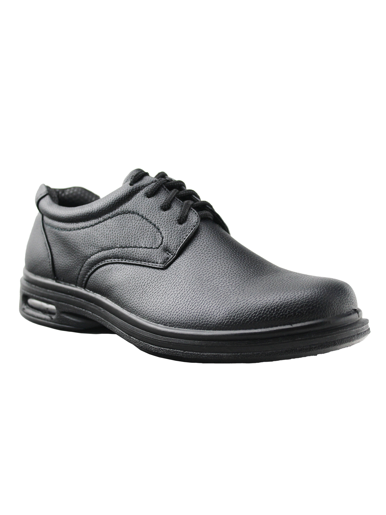 Details about  /Men Faux Leather Shoes Work Round Toe Business Oxfords Lace up Non-slip Casual L