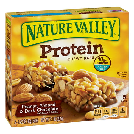 (3 Pack) Nature Valley Protein Chewy Bars Peanut Almond & Dark Chocolate 7.1 oz