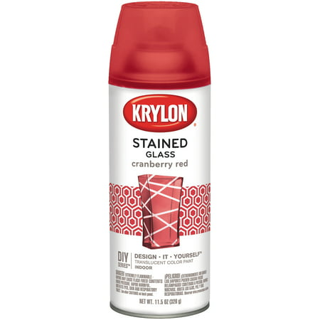 Krylon Stained Glass Paint 11.5oz Cranberry Red (Stained Glass Krylon)