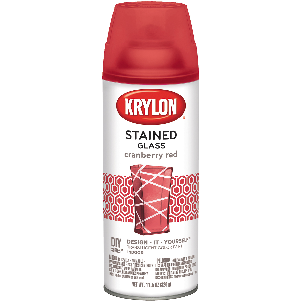 Krylon Stained Glass Paint 11.5oz Cranberry Red