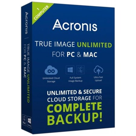Image of Acronis TIU1-18-MB-RT-WM-EN True Image Unlimited For PC and Mac, 1 Computer