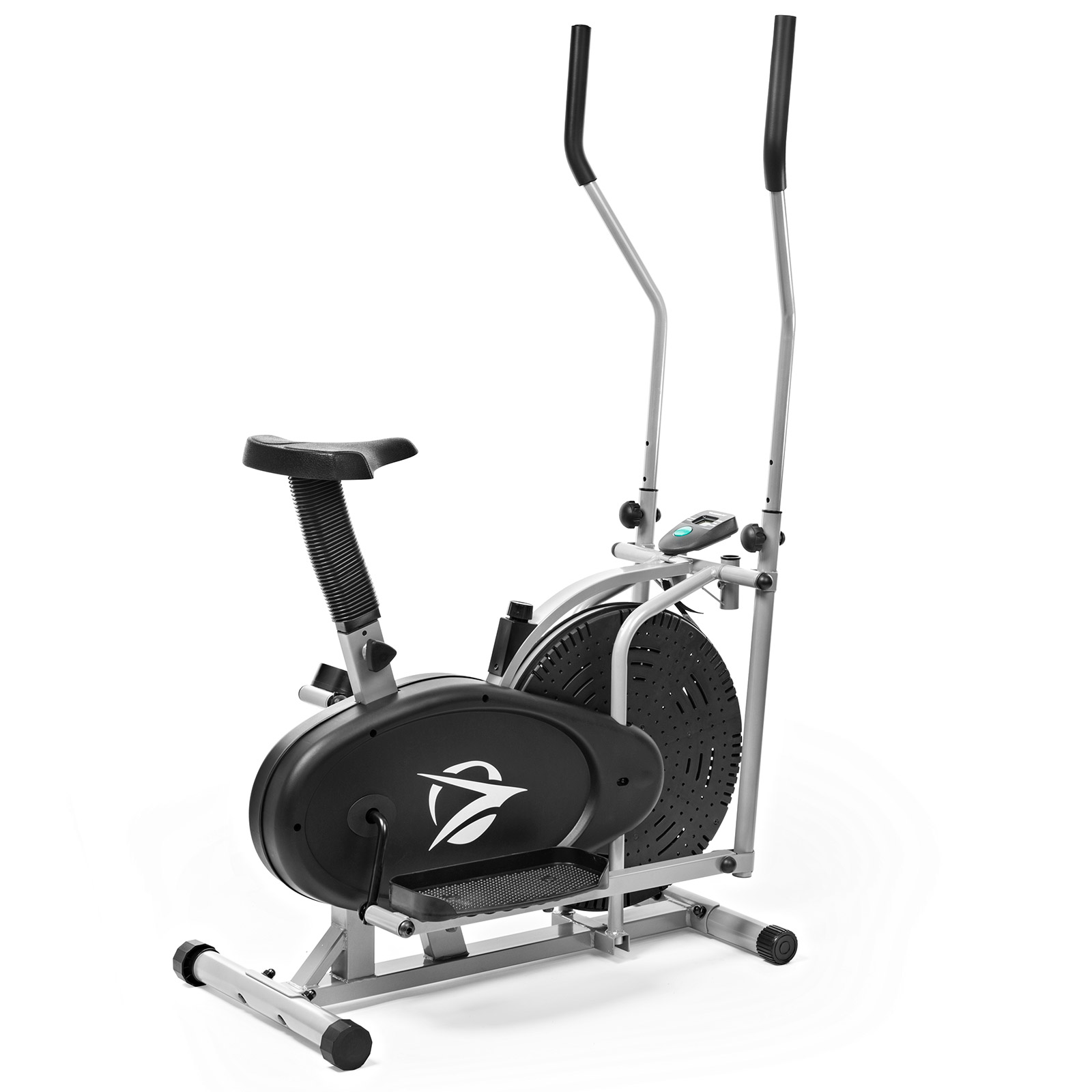 Plasma Fit Elliptical Machine Trainer 2 in 1 Exercise Bike Cardio Fitness Home Gym Workout Equipment