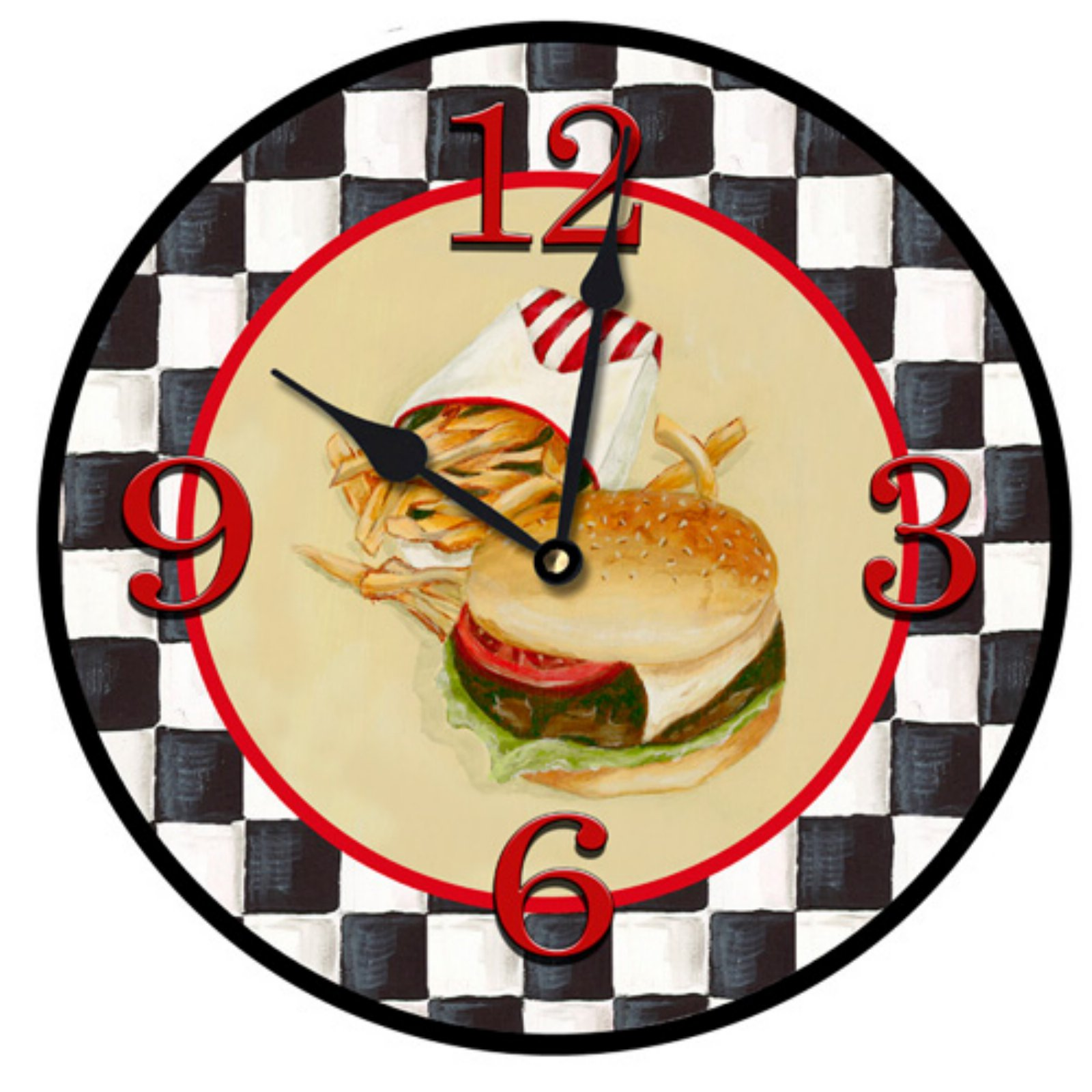 Lexington Studios Burgers N Fries Wall Clock