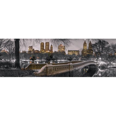 The Bow Bridge In Central Park, New York City - Mini Photography Door Poster / Print (Size: 36