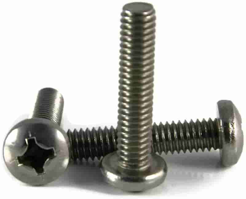 #10-24 x 2 Qty 25 Phillips Oval Head Machine Screws 316 Stainless Steel