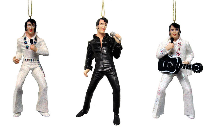 Club Pack of 12 Singing Elvis Presley Christmas Ornaments 5 ...