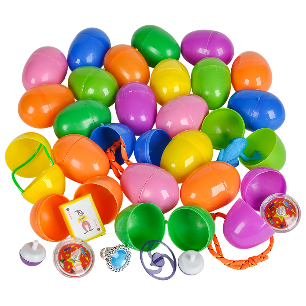 Rinco Assorted Toy Colorful 2.25in Filled Easter Eggs, 24 CT, Assorted
