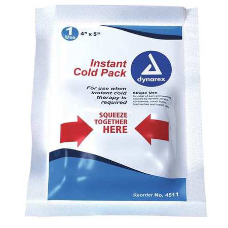 - DYNAREX 4511 Instant Cold Pack, White, 4inL x 5inW, PK24