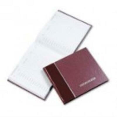 National Visitor Register Book, Burgundy Hardcover, 128 Pages, 8 1 2 x 9 7 8 by