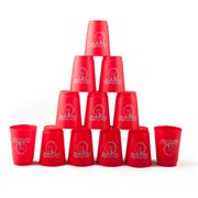 GOGO 3 Sets Quick Stacks Cups Flyingcup Sport Stacking Cup Stacking Speed Training Game (Red)