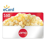 AMC Theatres $50 Gift Card (Email Delivery)