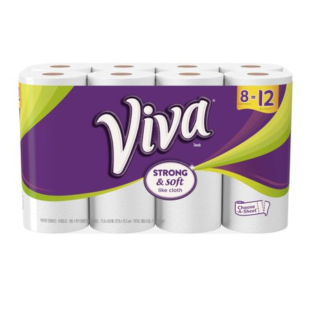 Viva Paper Towels  Choose A Sheet  White  8 Giant Rolls