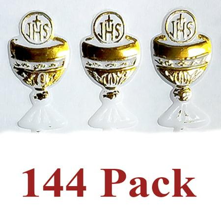 (144 Pack) First Communion Mini Caliz Favors Primera Comunion Recuerdos Chalice Crafts