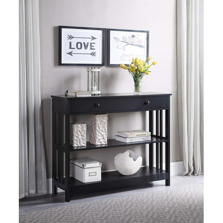 Convenience Concepts Mission 1 Drawer Console Table, Multiple Colors Mission Style Console Table
