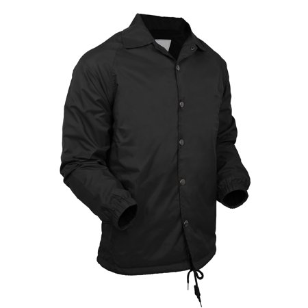 Mens Snow Jackets (Mens Coach Jacket Lightweight Windbreaker Waterproof Sportswear Coat)