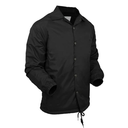 Mens Coach Jacket Lightweight Windbreaker Waterproof Sportswear Coat