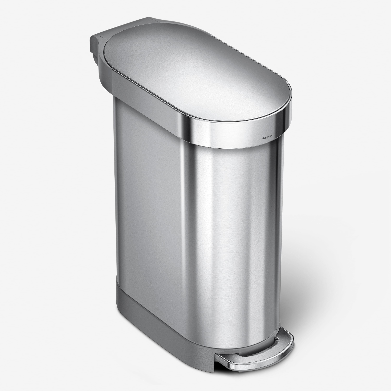 simplehuman 45 liter / 12 gallon slim hands-free kitchen