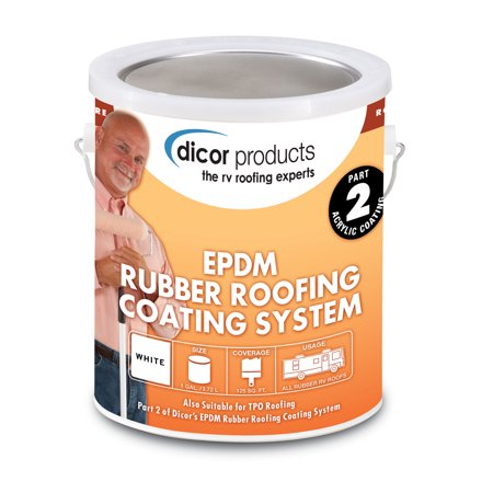 Dicor Corporation RP-CRC-1 Rubber Roof Acrylic Coating