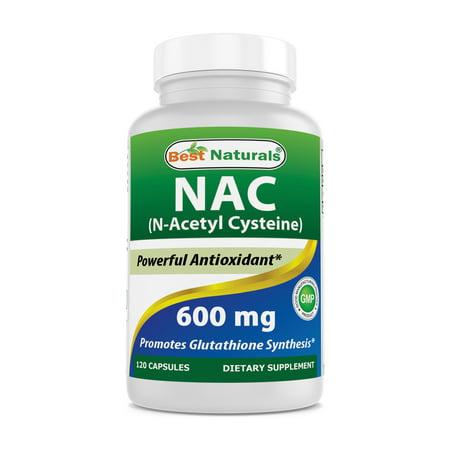 Best Naturals NAC-Acetyl Cysteine 600 mg 120 (25 Mg 120 Pills)