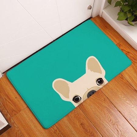 Image of Non Slip Indoor/Outdoor Doormats Home Entrance Cute Dog Pattern Floor Rug Carpet Door Mat Bath Kitchen Mats