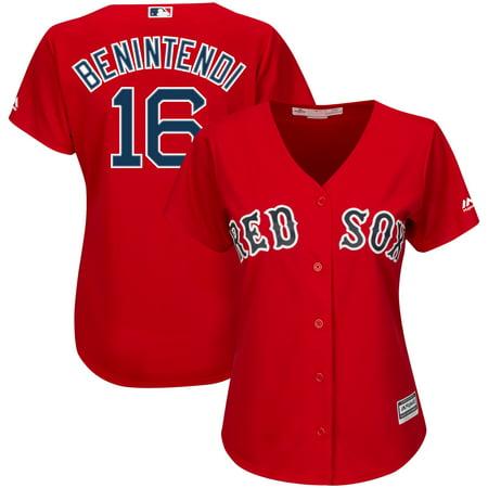 Andrew Benintendi Boston Red Sox Majestic Women's Alternate Cool Base Player Jersey - Scarlet