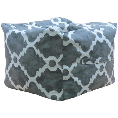 "FHT Premiere Home Madrid Summerland Grey 17"" Pouf Footstool"