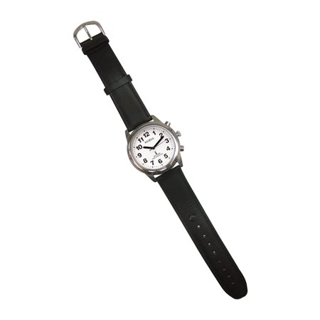 Talking Radio-Controlled Stainless Steel Watch - (Best Radio Controlled Watches)