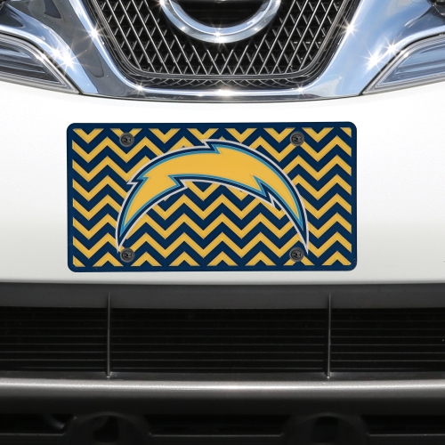 Los Angeles Chargers Chevron Acrylic Laser Cut Plate - No Size