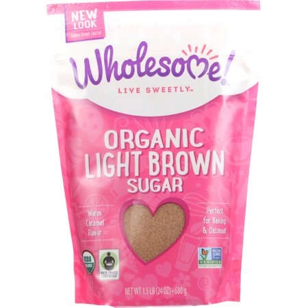 (2 Pack) Wholesome Live Sweetly Organic Light Brown Sugar, 24 (Brown Sugar Toffee)