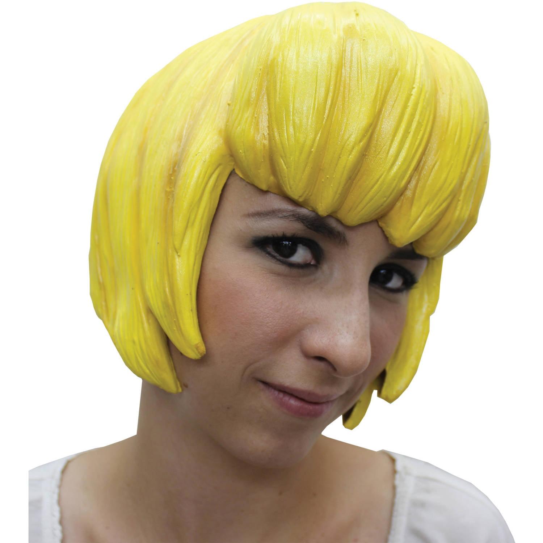 Anime 6 Latex Yellow Wig Adult Halloween Accessory