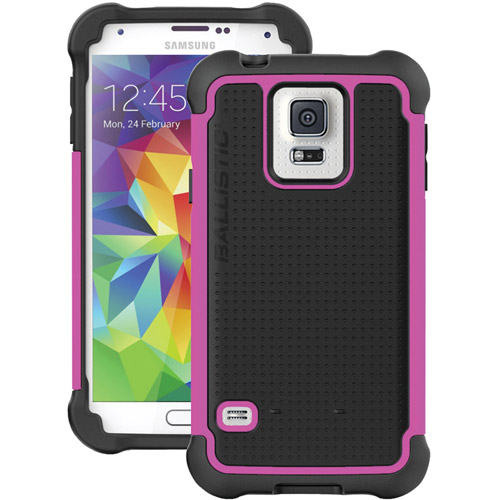 BALLISTIC TJ1344-A95C Samsung(R) Galaxy S(R) 5 Tough Jacket(TM) Case (Black/Raspberry Pink)