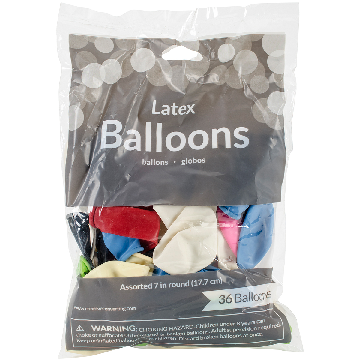 "Assorted 7"" Latex Balloons, 36 pk"
