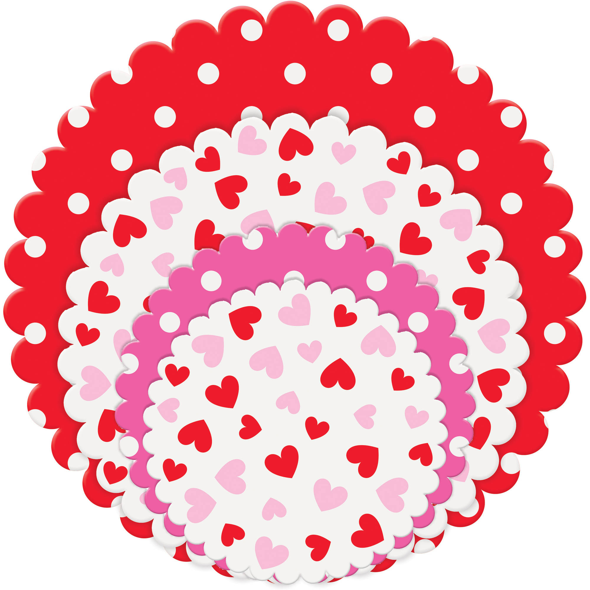 Valentine's Day Paper Doilies, Assorted 20ct