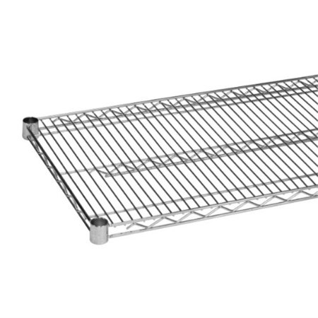 wire shelf with 4 plastic clips shelving unit add-on [set of 2] finish: chrome, size: 1