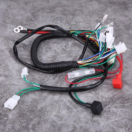 HURRISE 50 70 90 110CC CDI Harness Assembly Wiring Kit ATV Electric Start  QUAD, Magneto Stator, Ignition Coil CDI