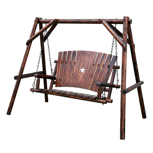 Leigh Country Char-Log Star Porch Swing with Stand