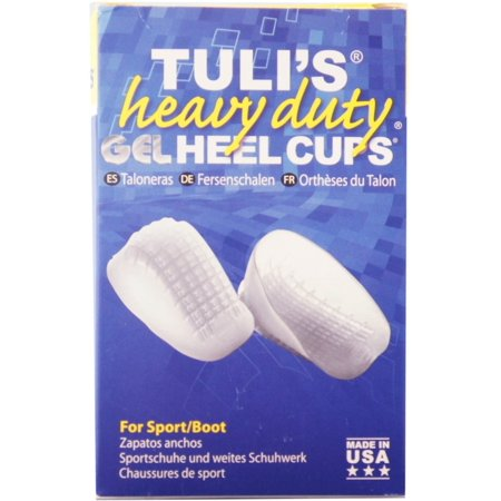 Heel Bhi Products (TuliGEL Heavy Duty Heel Cups, Shock Absorption Gel Cushion Insert for Plantar Fasciitis, Sever's Disease, and Heel Pain Relief,)