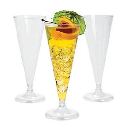 25 - Clear Plastic Champagne Wedding Toasting Flutes Glasses