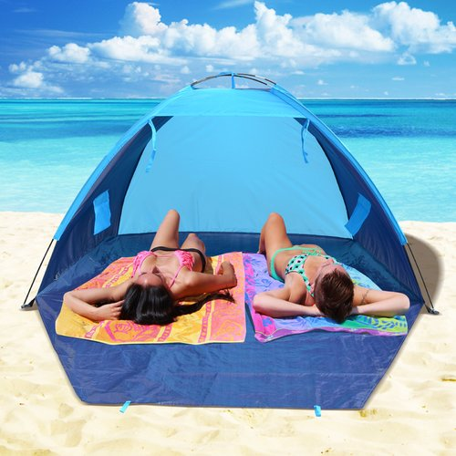 Sunrise Outdoor LTD Pop Up Potable Beach Shelter Camping Sun Shade Outdoor Canopy 4 Person Tent