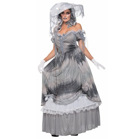 Bell The Dead U Tant Zombie Gray Ghoul Southern Belle Dress Costume