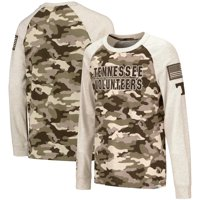Tennessee Volunteers Colosseum Youth OHT Military Appreciation Desert Camo Raglan Long Sleeve T-Shirt - Oatmeal